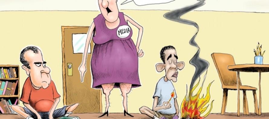 Nixon vs Obama (Cartoon)