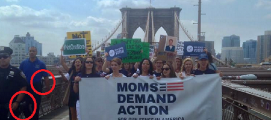 Anti-Gun Group Moms Demand Action Marches on the Brooklyn Bridge With Armed Security