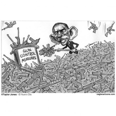 obama gun control cartoon