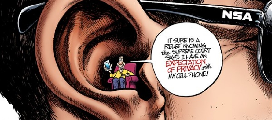 Cell Phone Privacy (Cartoon)