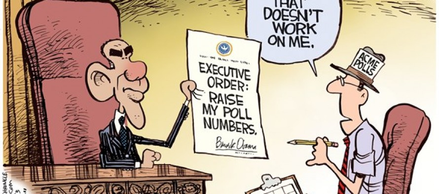 Obama Poll Numbers (Cartoon)