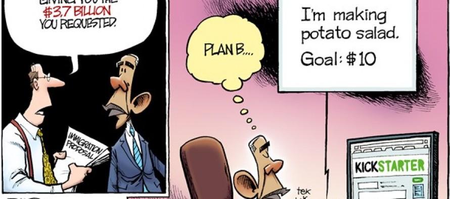 Emergency Immigration Funding  (Cartoon)