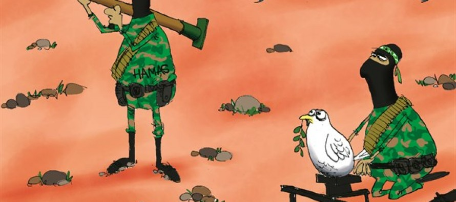 Hamas Shoots Peace (Cartoon)