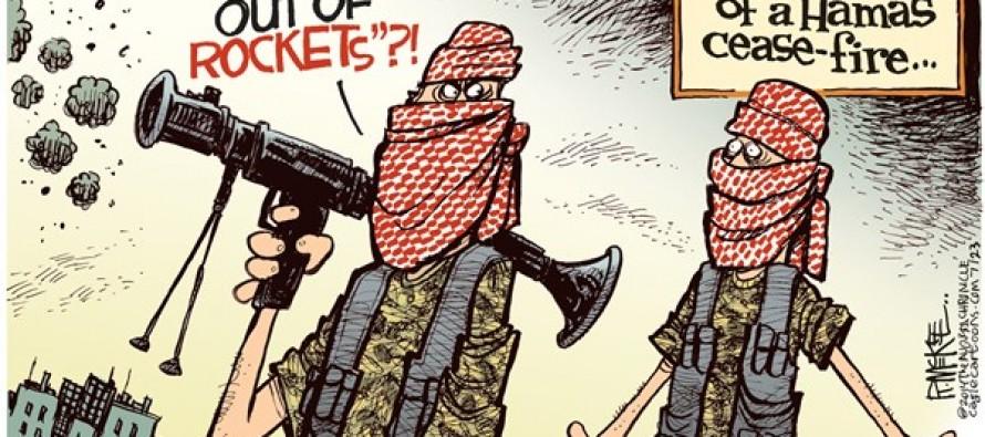Hamas Cease Fire (Cartoon)