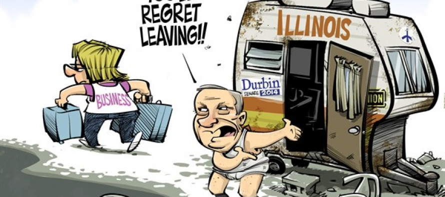 LOCAL IL Durbin and Business (Cartoon)