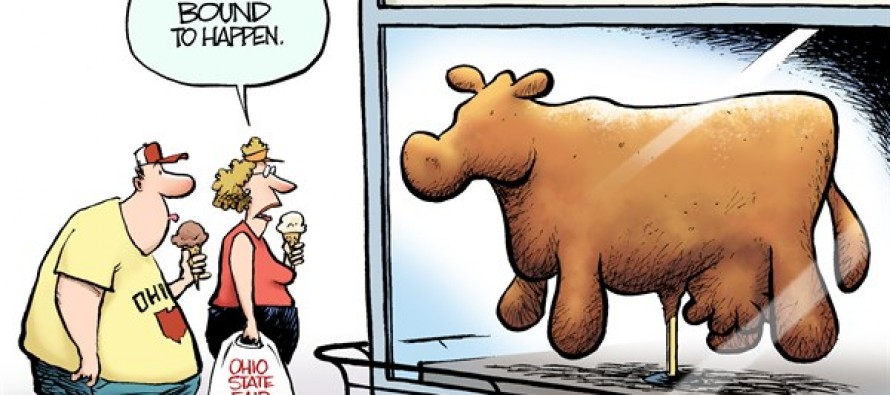 LOCAL OH – Butter Cow (Cartoon)