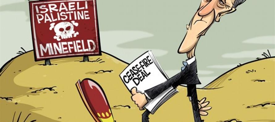Kerry steps in (Cartoon)