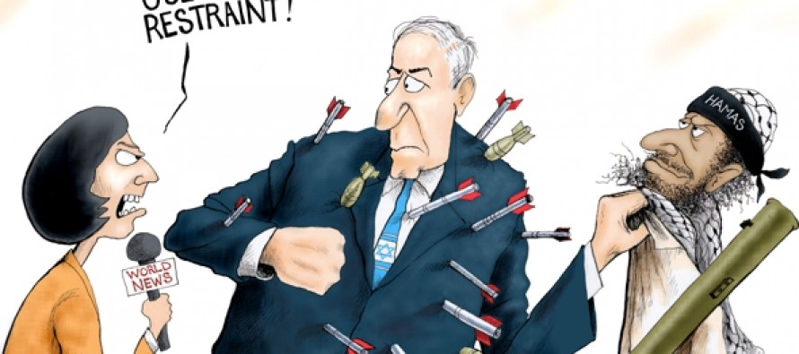 Israeli Restraint (Cartoon)