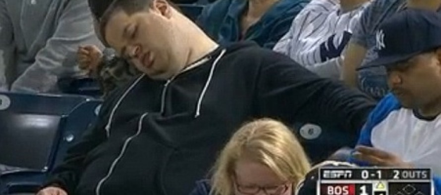 "Man Filmed Sleeping During Yankees Game Sues ESPN For $10 Million Because Announcers Made Him Feel ""Like a Fatty Cow"""