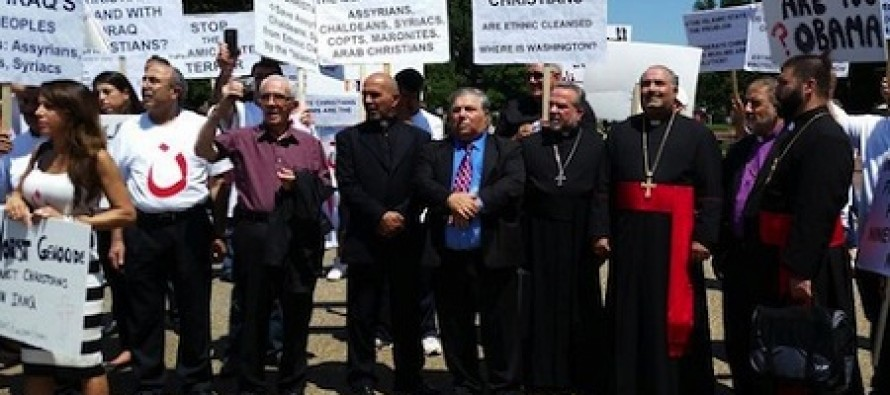 Iraqi Christians Chanting For Help in Front of White House: 'Obama, Obama Where Are You?'