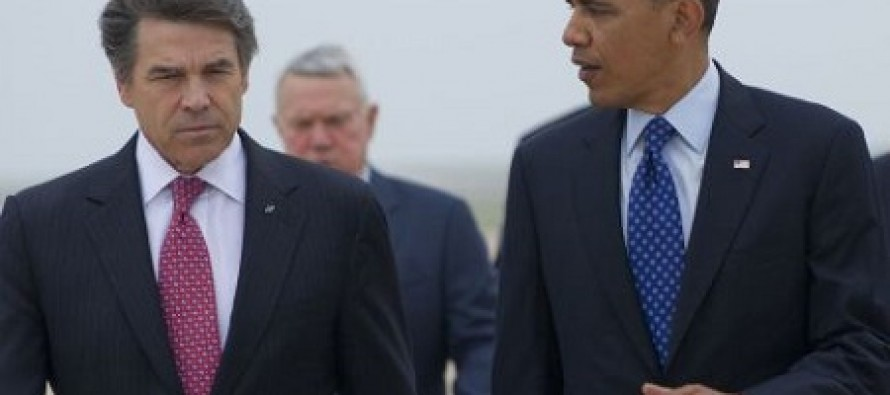Rick Perry Refuses Offer From Obama to Shake His Hand When He Lands in Texas
