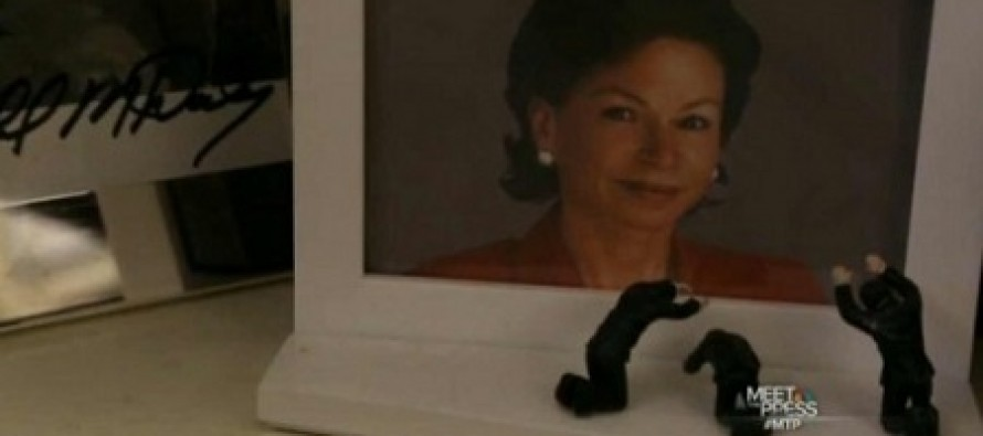 Creepy: White House Has a Picture of Valerie Jarrett With Figurines Bowing in Front of Her