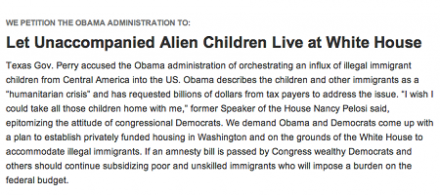 Petition Started to Allow Illegal Immigrant Children to Live at the White House