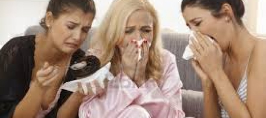 Women Crying Over Supreme Court Decisions on Funding Abortifacients