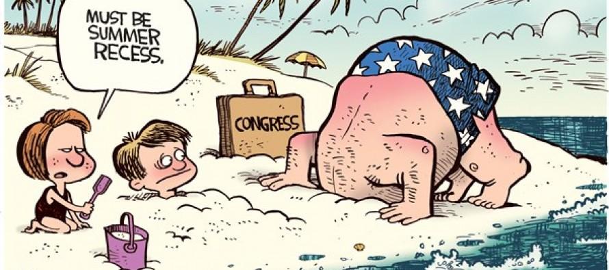 Congress Summer Recess (Cartoon)