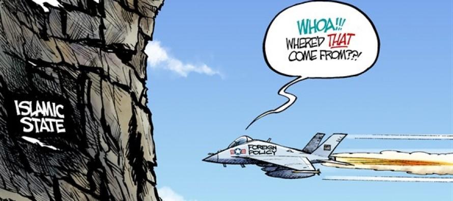 Iraq Flight Path (Cartoon)