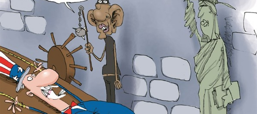 Obama Tortures (Cartoon)