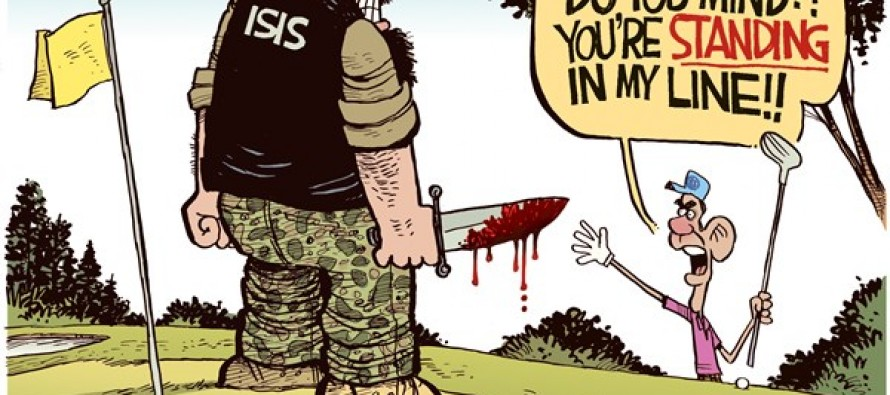 Obama Isis Golf (Cartoon)