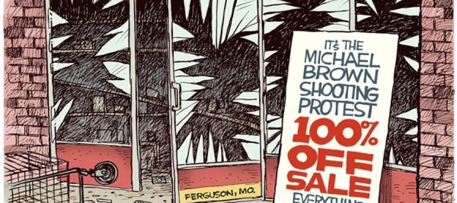 Ferguson Looting (Cartoon)
