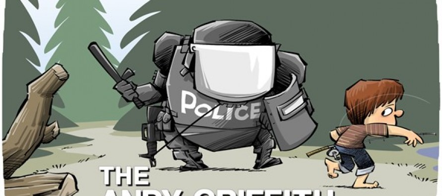 Militarized police (Cartoon)