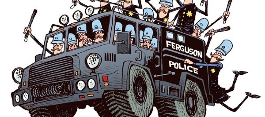 Ferguson Keystone Cops (Cartoon)