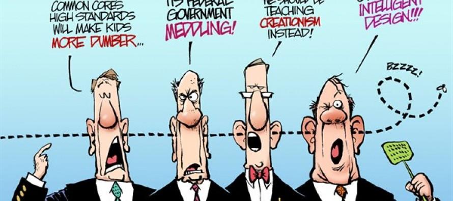 Common Core Critics (Cartoon)