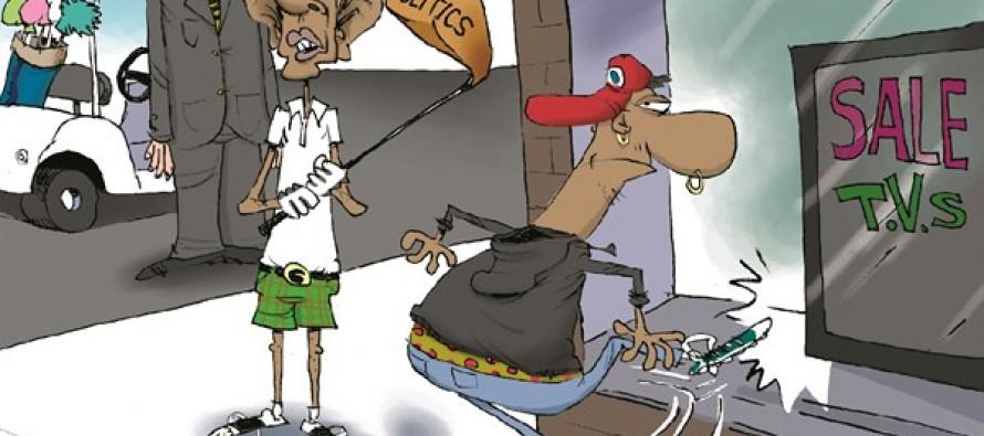Obama's Race Politics (Cartoon)