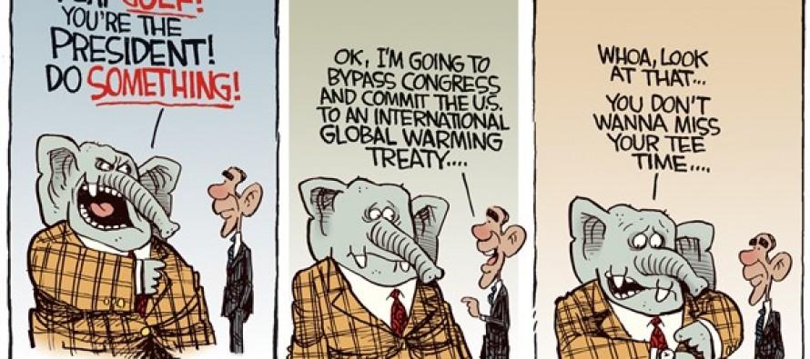 Global Warming Treaty (Cartoon)