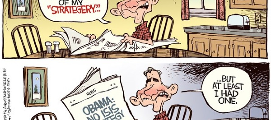 Obama ISIS Strategy (Cartoon)