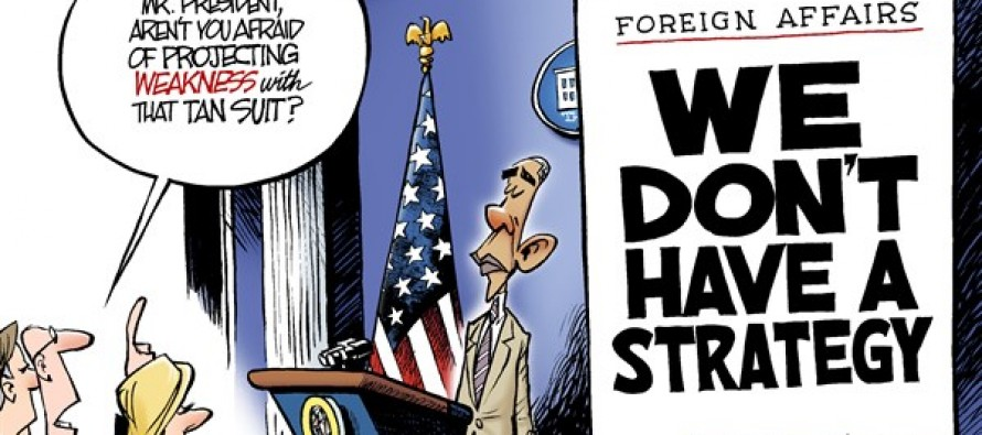 Obama Projects Weakness (Cartoon)