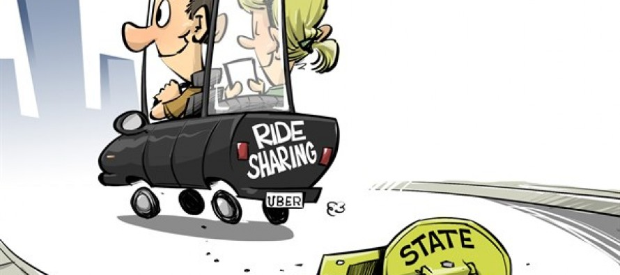 Ride sharing and government (Cartoon)
