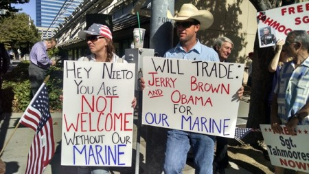 Free Tamoorissi protest aug 2014 trade Brown 2