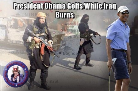 Obama golf while Iraq burns