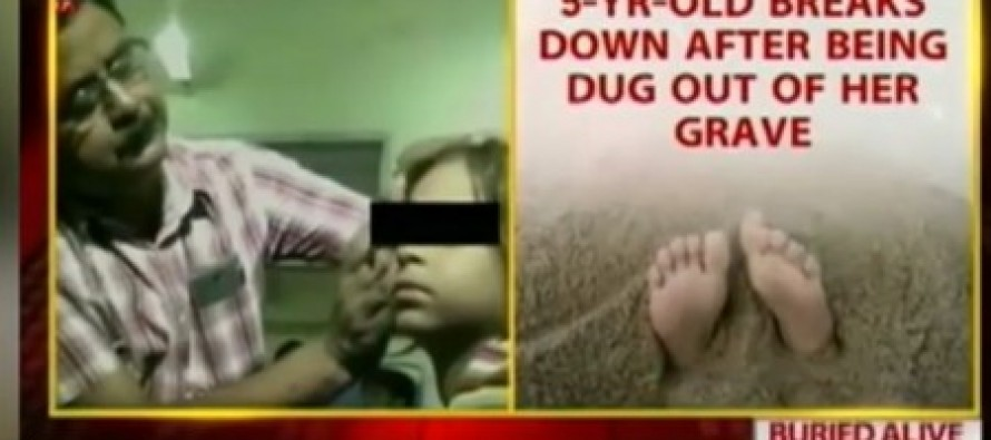 Throttled and left to die 'by her family': Indian girl, seven, is buried alive but manages to claw her way to safety