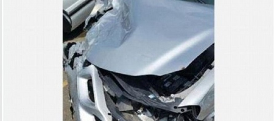 Drunk, Unlicensed Driver Who Killed Teenager Posts Pictures of His Totaled Car Online With a Smiley Face