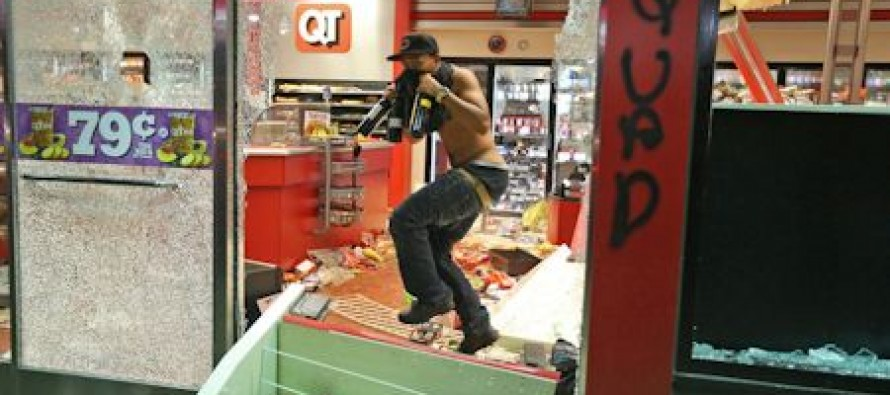 Rioting And Looting In Ferguson, MO