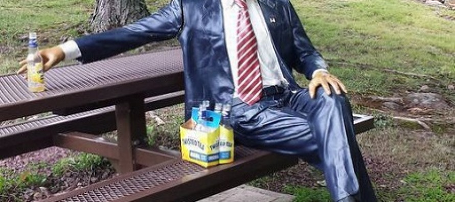 Obamabot Has to Go to the Hospital After Her Life-Sized Obama Statue is Stolen
