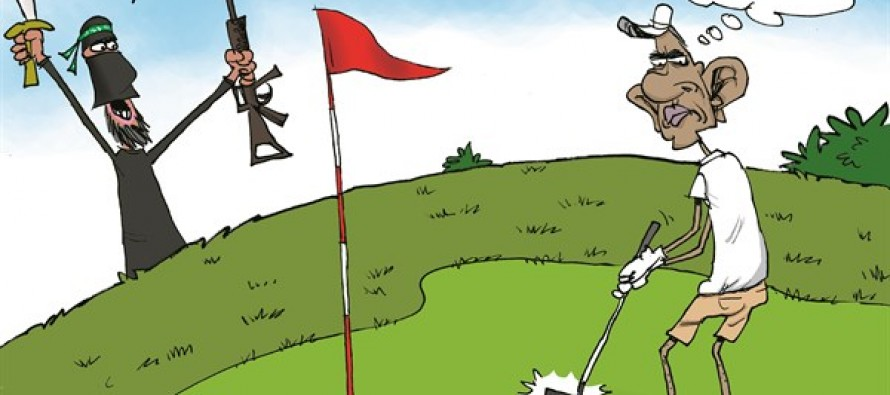 ISIS Heckles Obama (Cartoon)