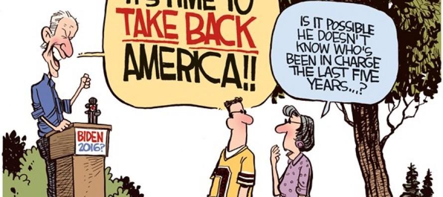 Biden Take Back America (Cartoon)