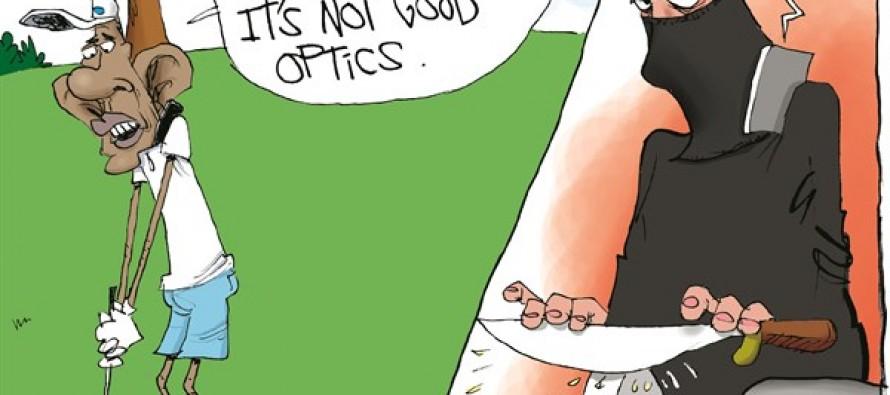 Obama and ISIS Optics (Cartoon)