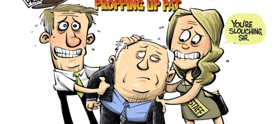 LOCAL IL Propping up Pat (Cartoon)