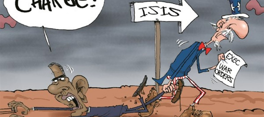 Obama Charges ISIS (Cartoon)