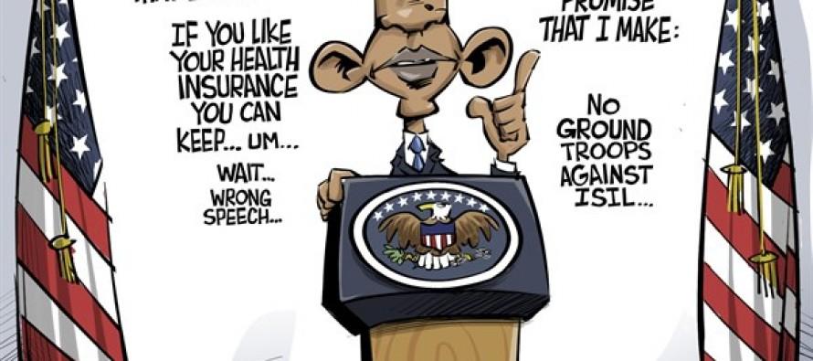 Obama Promises (Cartoon)