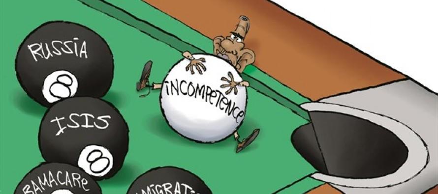 Obama Behind 8 Balls (Cartoon)