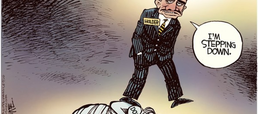 Holder Steps Down (Cartoon)
