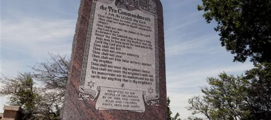 Atheists Lose:  Oklahoma Judge Dismisses 10 Commandments Lawsuit