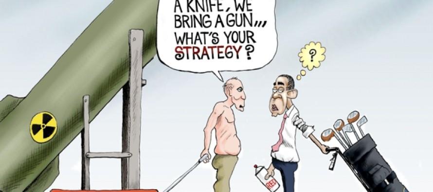 Putin's Strategy (Cartoon)