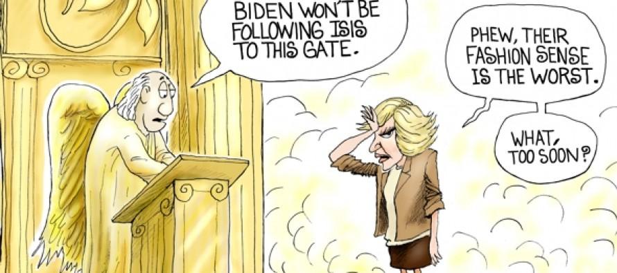 Joan Rivers At The Gate (Cartoon)