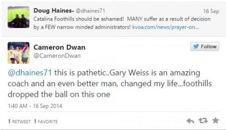 Twitter Christian coach fired school shamed
