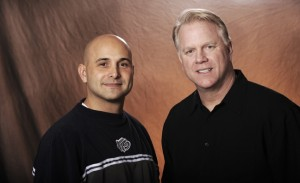 Boomer and Carton in the Mortning